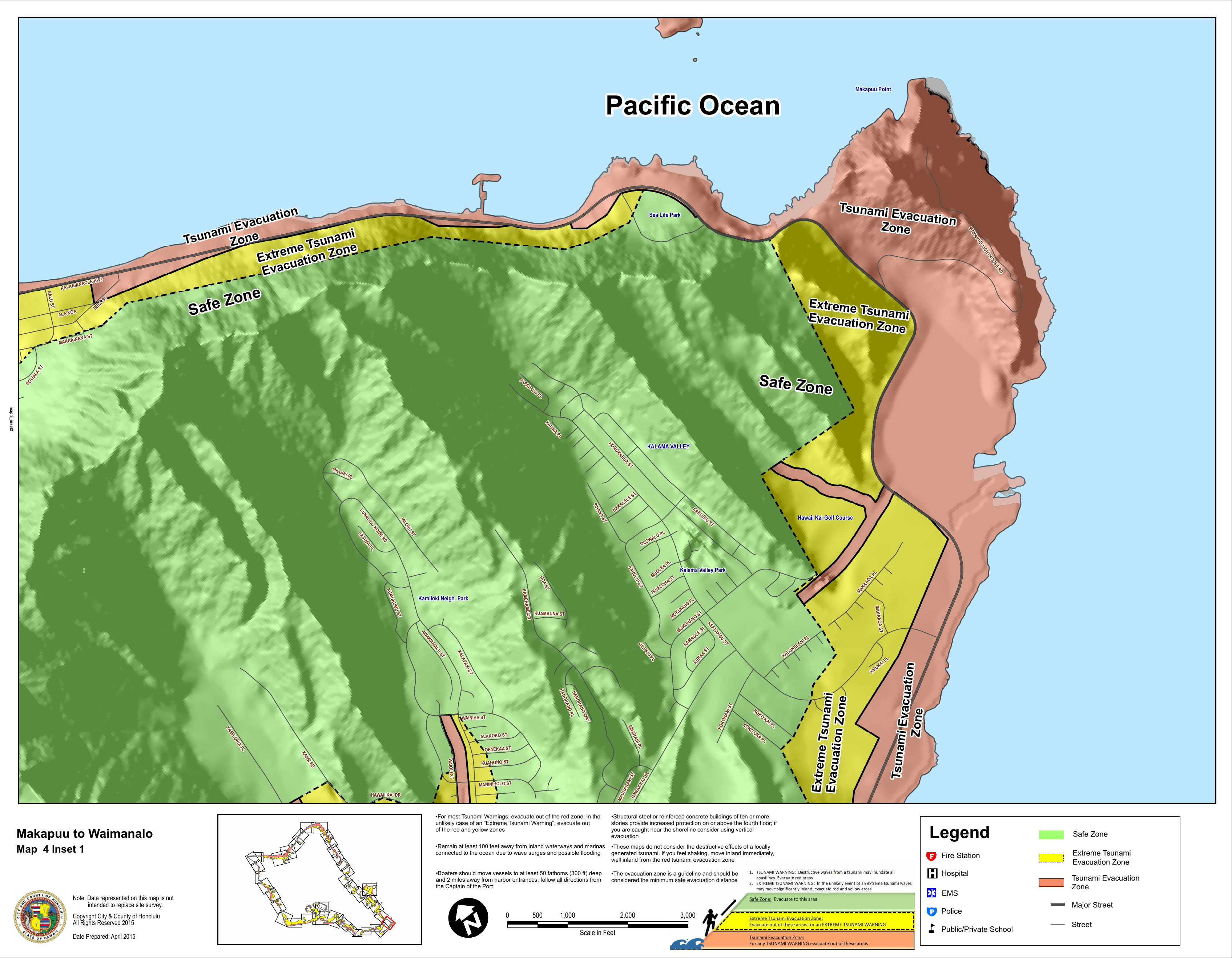 Makapuu point strip map